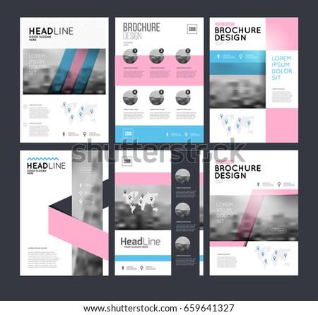 website template design interface elements low stock vector
