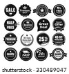 Sixteen Scalable Vintage Badges - stock vector