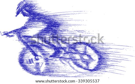 sketch, abstract, bicycle