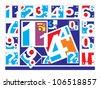 Sketch Alphabet - stock photo