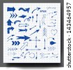 Sketch arrows collection for your design. Hand drawn with ink. Vector illustration. - stock vector