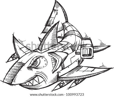 Illustration Robot Shark Vector Stock Photos, Images ...