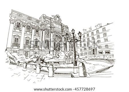 Triumphal Arch Constantine Coliseum Rome Italy Stock