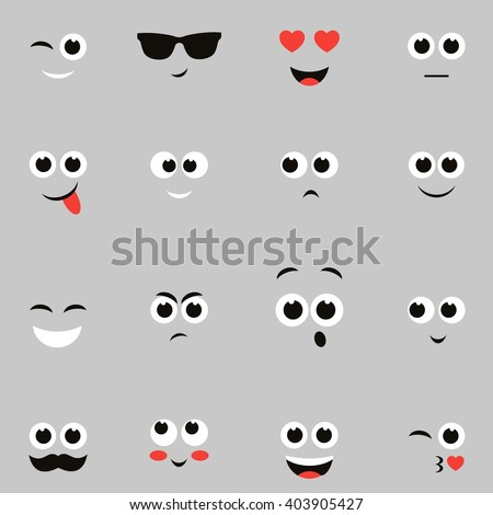 sketches of funny smiley faces