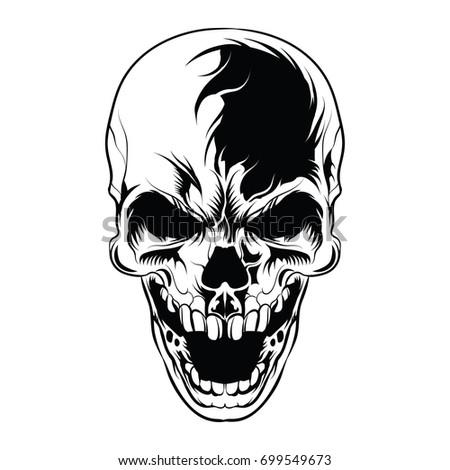 Skull Tattoo Logo Stock Vector 297010028 - Shutterstock