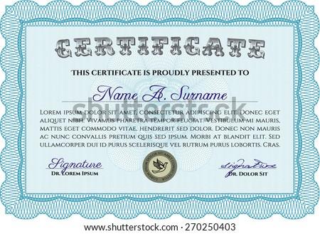 Sky Blue Certificate Diploma Template Light Vector 262012553 – Money Coupon Template