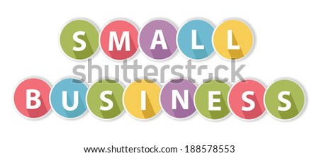 Small business on white background,vector