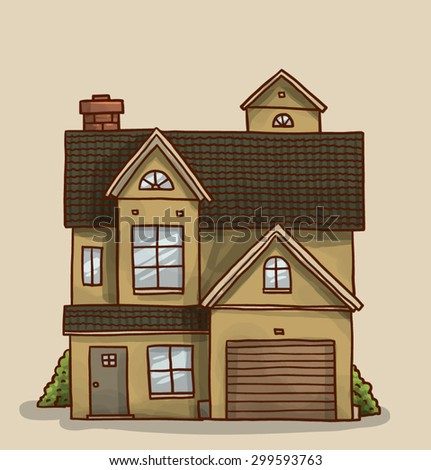 Strange Small Cute House Vector Stock Vector 299593781 Shutterstock Largest Home Design Picture Inspirations Pitcheantrous