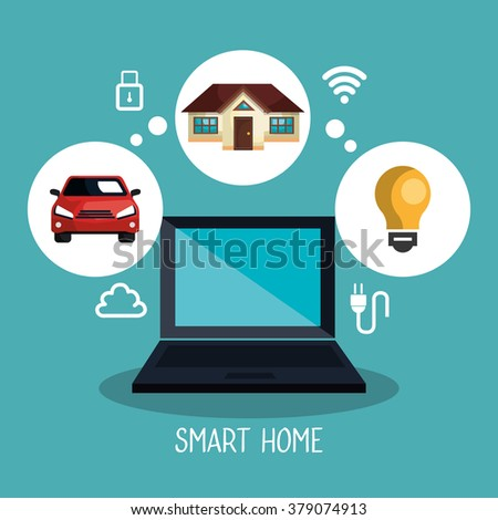 smart home design stock vector 379074925 shutterstock