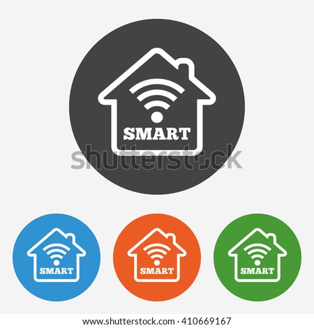 clock wifi stars icons smart tv stock vector 424848271 shutterstock. Black Bedroom Furniture Sets. Home Design Ideas