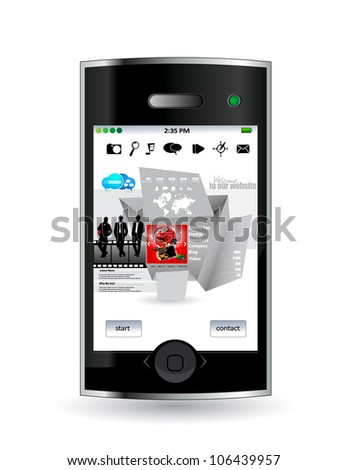 Smart phone with web application