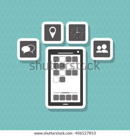 smartphone icon design, vector illustration