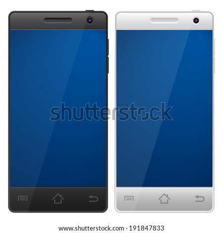 Smartphone on a white background.