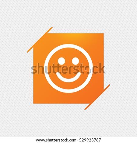 Smile speech bubbles icons happy sad stock vector - Chat orange ...