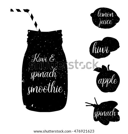 smoothie recipe black whiterecipe detox cocktailsmoothie stock vector 476869849 shutterstock. Black Bedroom Furniture Sets. Home Design Ideas