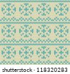 Snow drops seamless knitting pattern - stock