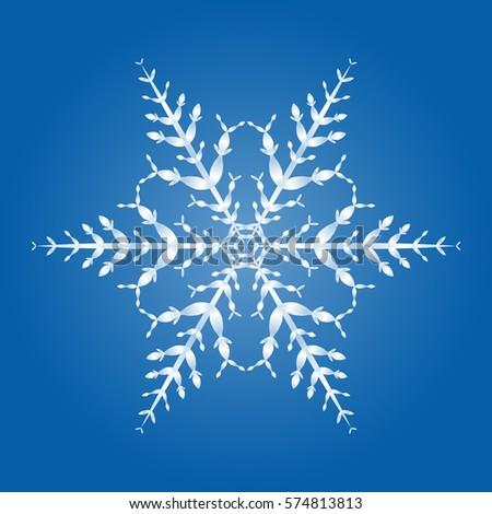 Christmas Star Ice Crystal Stock Photo 262414064 ...