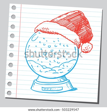 Snow globe with Santa Claus cap