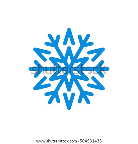 Snowflake Icon Blue Silhouette Snow Flake Stock Illustration