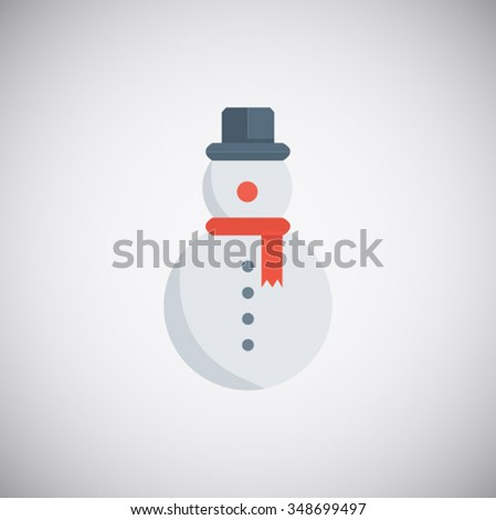 Snowman icon isolated on white background