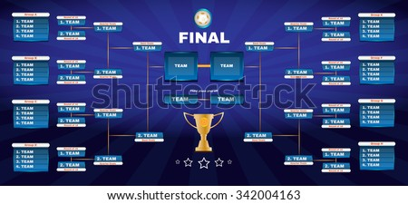 soccer champions final scoreboard template on stock vector