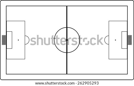 Stock Vector Soccer Field on Hockey Rink Layout Lines