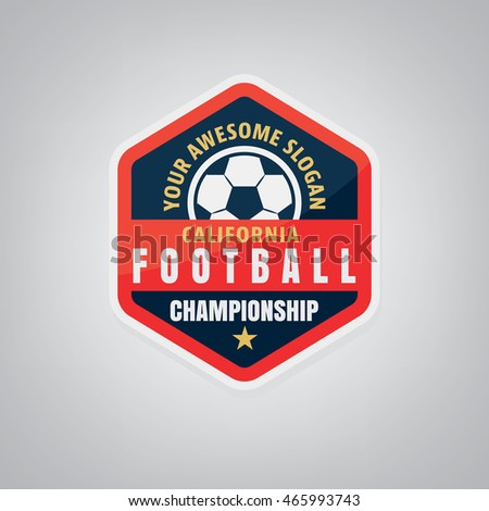 set soccer football badge logo design stock vector 235912426