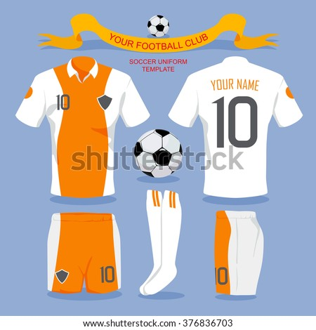 Soccer uniform template for your football club, illustration design.