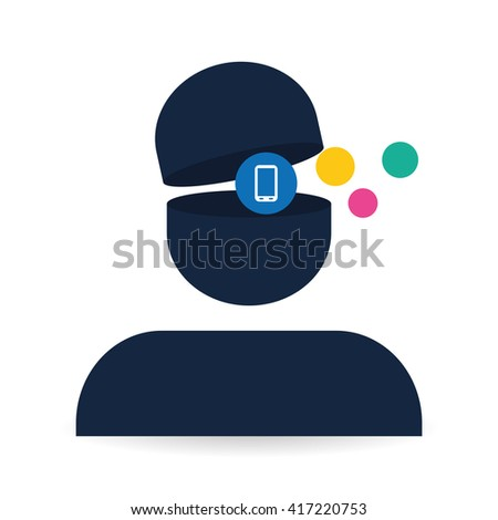 Social media design. media icon. communication concept,