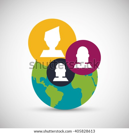 Social media graphic design, vector illustration
