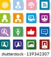 Social Media Icons colorful - stock photo