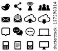 Social Media Icons - Set of social media icons isolated on a white background.  Eps8. - stock vector