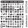 social media icons - vector icons - stock vector