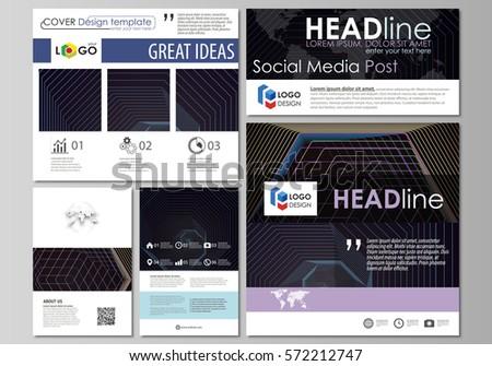 social media posts set business templates stock vector 563069065 shutterstock. Black Bedroom Furniture Sets. Home Design Ideas
