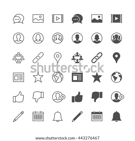 Social network icons, included normal and enable state.