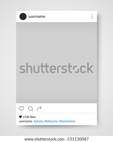 social network photo frame vector illustration instagram vector illustration