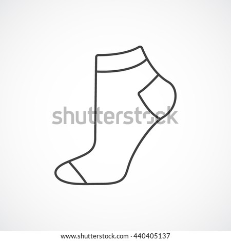 sock template stock vector 115370947 - shutterstock