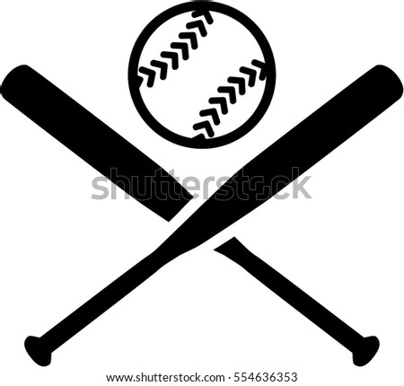 baseball outline stiches stock vector 275830787 shutterstock Crossed Baseball Bats Vector Crossed Baseball Bats with Baseball