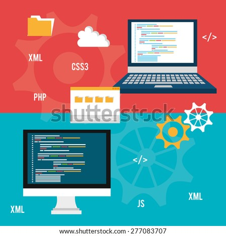 Design concepts icons graphic web design stock vector Vector image software