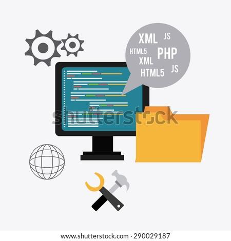 Processs Concept Icon Design Vector Illustration Stock