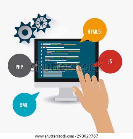 Infographic Flat Design Concept Online Advertising Stock