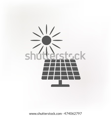 Solar panel icon, vector illustration