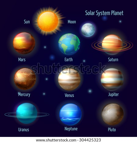 Illustrated Diagram Showing Order Planets Our Stock Illustration ...