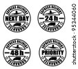 Some types of delivery services stamps - stock