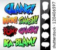 Sound Effects: Comic Book / Graffiti Style with Speech Bubbles - stock photo
