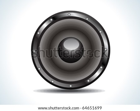 sound i black vector illustration