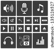 Sound icons. Music icon set - stock vector