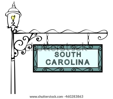 South Carolina retro pointer lamppost.