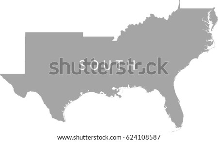 Gray Scale Map United States Labels Stock Vector - Gray us map