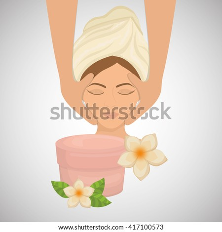 Spa center design. Skin care concept. Flat illustration